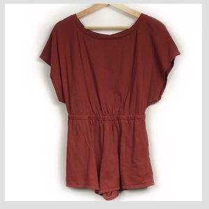 Out From Under Red/Orange Romper Open Back size XS